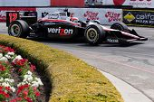 LONG BEACH - APRIL 17: Will Power driver of the #12 Verizon Team Penske Dallara Honda races during t