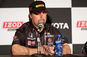 LONG BEACH - APRIL 17: Michael Andretti answers questions during the post race press conference of t