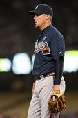 LOS ANGELES - APRIL 9: Atlanta Braves 3B Chipper Jones #10 during the MLB game between the Atlanta B