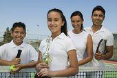 Постер, плакат: Теннис семья