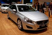 GENEVA - MARCH 8: The Volvo S60 on display at the 81st International Motor Show Palexpo-Geneva on Ma