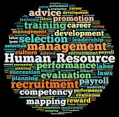 foto of payroll  - Human Resource Management in word collage - JPG