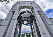 Atlantic Arch World War Ii Memorial National Mall Washington Dc.  Memorial Was Dedicated 2004. poster