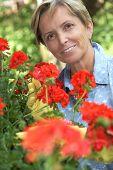 Žena zahradnictví