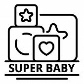 Super Baby Icon. Outline Super Baby Vector Icon For Web Design Isolated On White Background poster