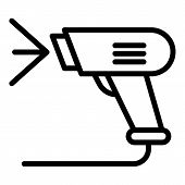 Optical Barcode Scanner Icon. Outline Optical Barcode Scanner Vector Icon For Web Design Isolated On poster