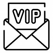 Vip Invitation Icon. Outline Vip Invitation Vector Icon For Web Design Isolated On White Background poster