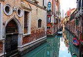 Romantic canal in  Venice.