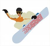 Snowboard In Flight.