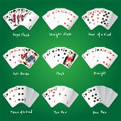 Playing cards - heart suit highly detailed vector illustration. EPS 10