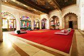 Moti Mahal - de Pearl Palace, Fort Mehrangarh, Jaiput, Rajasthan, India