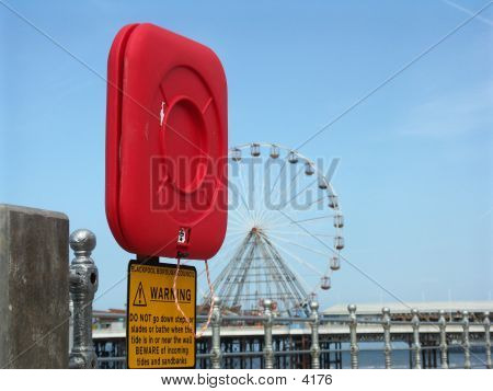 Life Preserver At Blackpool poster