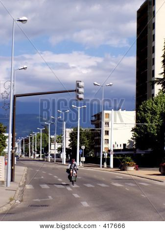 poster of Lonely Cyclist In A Big City