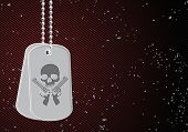 vector military dog tags on black