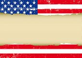 image of patriot  - US scratched flag - JPG