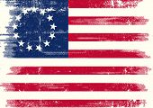 stock photo of civil war flags  - Old union dirty flag - JPG