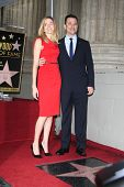 LOS ANGELES -JAN 25:  Molly McNearney, Jimmy Kimmel at the Hollywood Walk of Fame ceremony for Jimmy