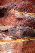 Sandstone Gorge Abstract Pattern Formation, Rose City Cave, Siq, Petra