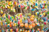 Mixed Colorful Fruit Lollypop