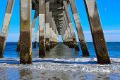 Under a Concrete Pier