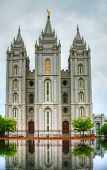 Mormonen tempel In Salt Lake City, Ut