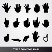 Human Hand Vector icon set