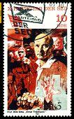 alte Briefmarke. Ernst Thälmann.
