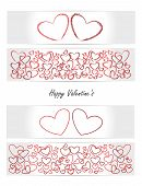 Valentine's day - vector set of cards, banners, tickets
