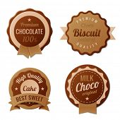 Chocolate Vintage Labels template collection.  Choco Luxury Retro design. Extra High quality Vintage