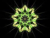 Green Flower Fractal