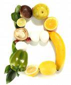 Vitamina B Postado produtos que contêm ele isolado no branco