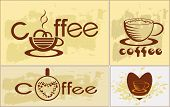 Coffee , logotype , menu . poster