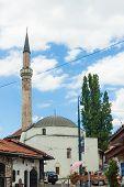 SARAJEVO, BOSNIA - AUGUST 11: Ferhadija Mosque in Sarajevo on August 11, 2012 in Sarajevo, Bosnia. A