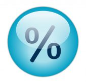 Glassy Blue Percent Icon