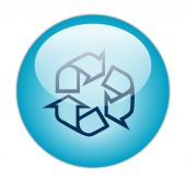 Glassy Blue Recycle Outline Icon
