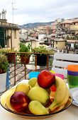 foto of genova  - Mix of fruits and herbs on the beautiful terrace in Genova Italy - JPG