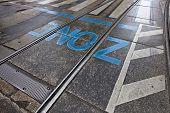 Zone - Asphalt Surface With Rails