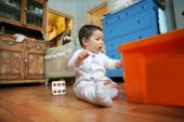 Baby Plays In The Room, Soft Focus poster