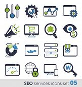 SEO services icons set 05