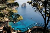 View from the cliff on the island of Capri, Italy