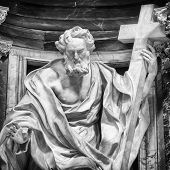 Statue of St. Phillip at the Basilica of St. John Lateran in Rome.