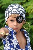 Pirate Kid Pointing Sword