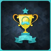 foto of trophy  - Grunge background with trophies and awards - JPG