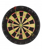 Dart Board isolated on white background