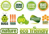pic of environmentally friendly  - Ecology themed icon set - JPG