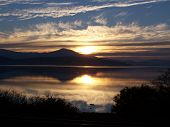 pic of klamath  - Sunset at Klamath Lake - JPG