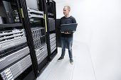It consultant monitor servers in data center