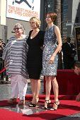 LOS ANGELES - MAR 17:  Kathy Bates, Kate Winslet, Shailene Woodley at the Kate Winslete Hollywood Wa