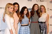 LOS ANGELES - MAR 16:  Ashley Benson, Shay Mitchell, Lucy Hale, Troian Bellisario, Sasha Pieterse at
