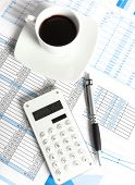 Financial reports and charts